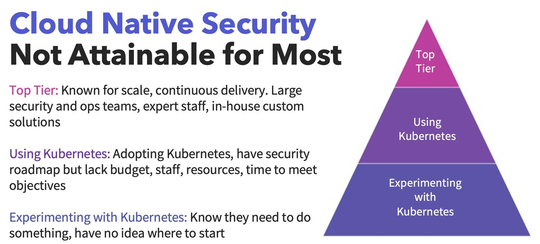 cloud native security not attainable
